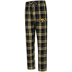 Men's Concepts Sport Black Iowa Hawkeyes Big & Tall Hillstone Flannel Pants