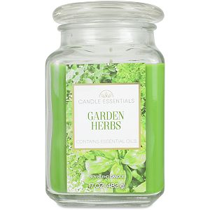 Candle Essentials Garden Herbs 17-oz. Candle Jar