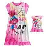 Girls 4-8 DreamWorks Trolls World Tour Poppy Dorm Gown & Matching Doll Gown