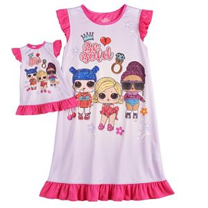 Girls 6-10 L.O.L. Surprise! Dorm Nightgown & Matching Doll Gown