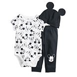 Disney's Mickey Mouse & Pluto Baby Boy Bodysuit, Pants & Hat Set by Jumping Beans®
