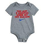 "Baby Boy Nike The Last 9 Months Were My Off Season"" Bodysuit"