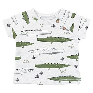 Baby Boy Mac & Moon 2-Pack Short Sleeve Raglan Tees in Crocodile Print