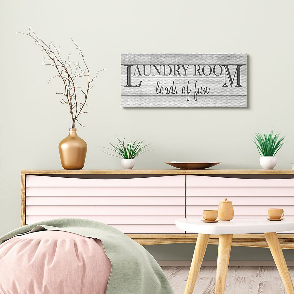 Stupell Home Decor Fun Laundry Room Funny Word Bathroom Black And White Design Wall Art by Kimberly Allen aT4F7