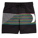 Toddler Boy Hurley Striped Rainbow Swim Trunks
