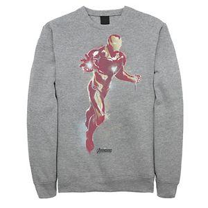 Men's Marvel Avengers: Endgame Iron Man Spray Paint Sweatshirt