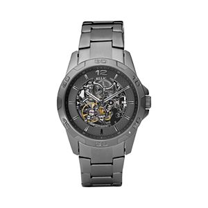 Relic by Fossil Men's Stainless Steel Automatic Skeleton Watch