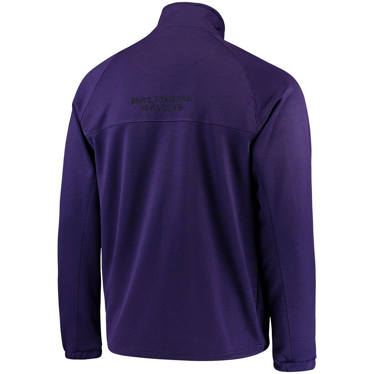 Men's G-III Sports by Carl Banks Purple Baltimore Ravens High Impact Half-Zip Jacket 0N1YV