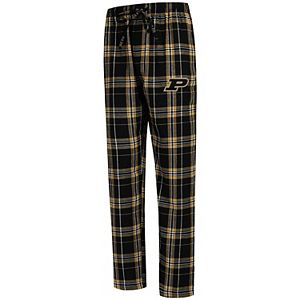 Men's Concepts Sport Black Purdue Boilermakers Big & Tall Hillstone Flannel Pants