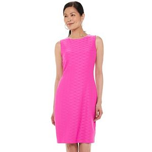 Women's Chaps Sleeveless Textured Sheath Dress