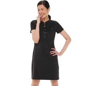Women's Chaps Short Sleeve Lace Up T-Shirt Dress