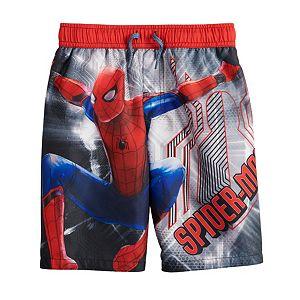 Boys 4-7 Spider-Man Swim Trunks