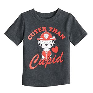 "Baby Boy Jumping Beans Paw Patrol Marshall ""Cuter Than Cupid"" Graphic Tee"