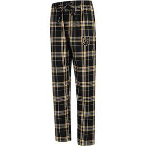 Men's Concepts Sport Black/Gold Vegas Golden Knights Hillstone Flannel Pants