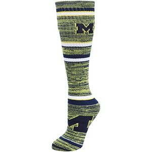 Women's For Bare Feet Michigan Wolverines Going to the Game Socks