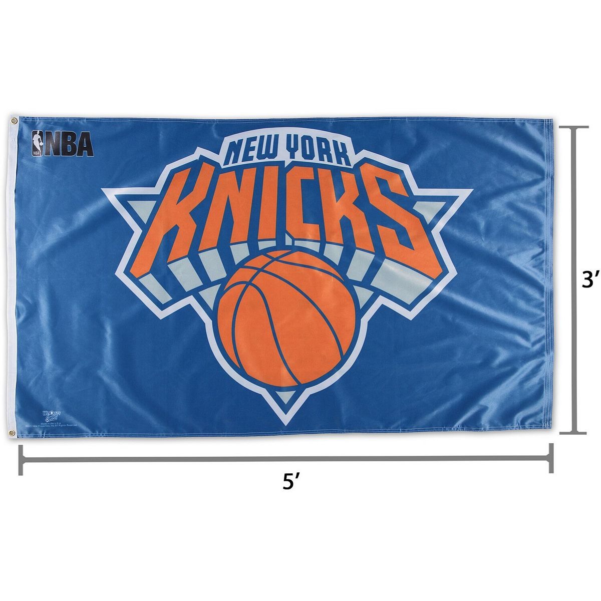 WinCraft New York Knicks One-Sided 3' x 5' Deluxe Flag Z5eBp