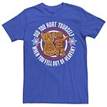 Men's Shrek Gingy Did You Hurt Yourself Holiday Circle Text Poster Tee