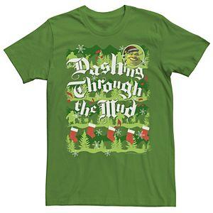 Men's Shrek Dashing Through the Mud Holiday Tee