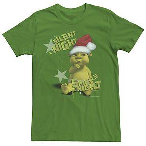 Men's Shrek Silent Night Smelly Night Portrait Tee