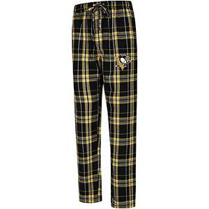 Men's Concepts Sport Black/Gold Pittsburgh Penguins Big & Tall Hillstone Pants