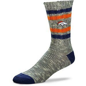 Women's For Bare Feet Denver Broncos Alpine Tweed Crew Socks