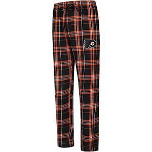 Men's Concepts Sport Black/Orange Philadelphia Flyers Hillstone Flannel Pants