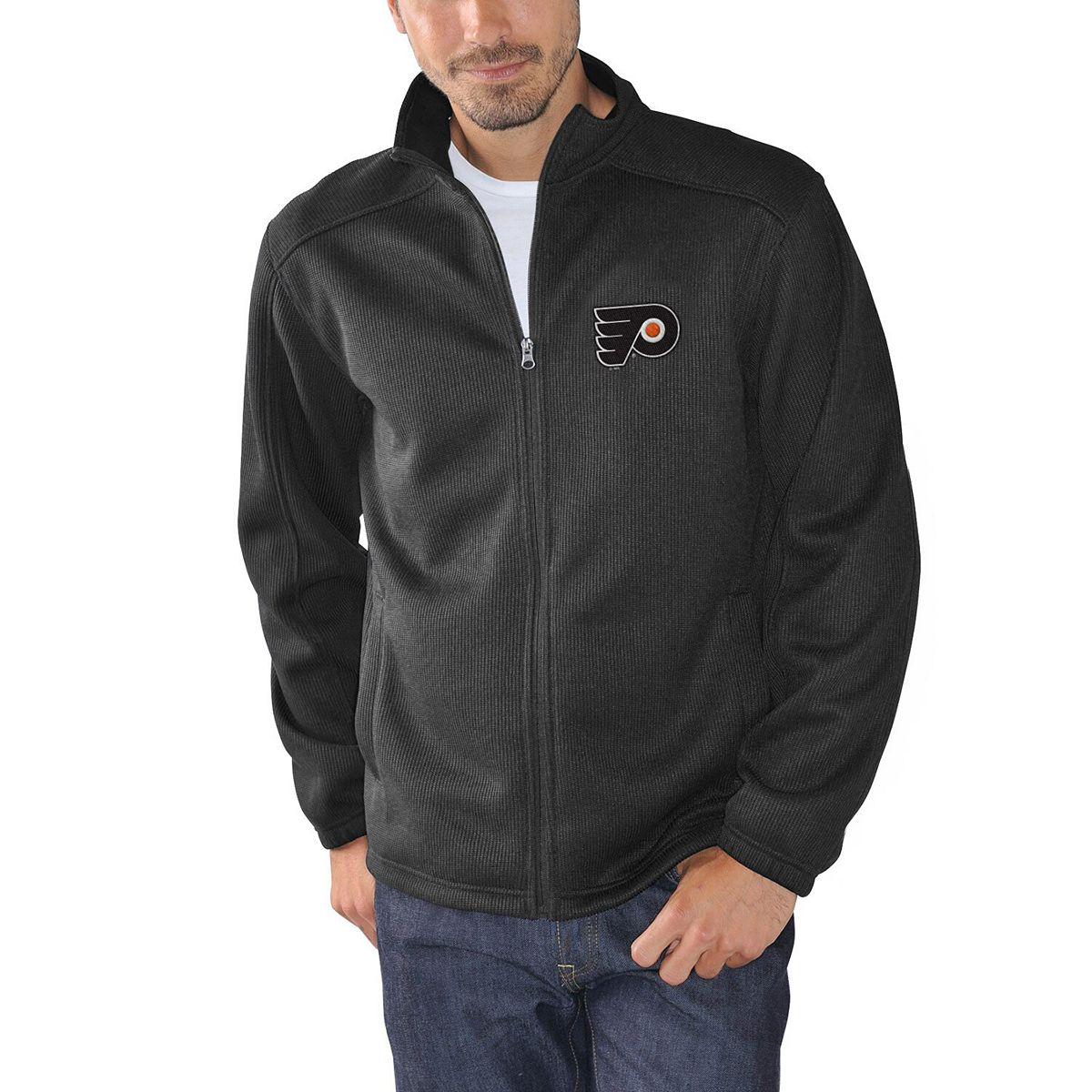 Men's G-III Sports by Carl Banks Black Philadelphia Flyers Audible Full-Zip Jacket J1olN