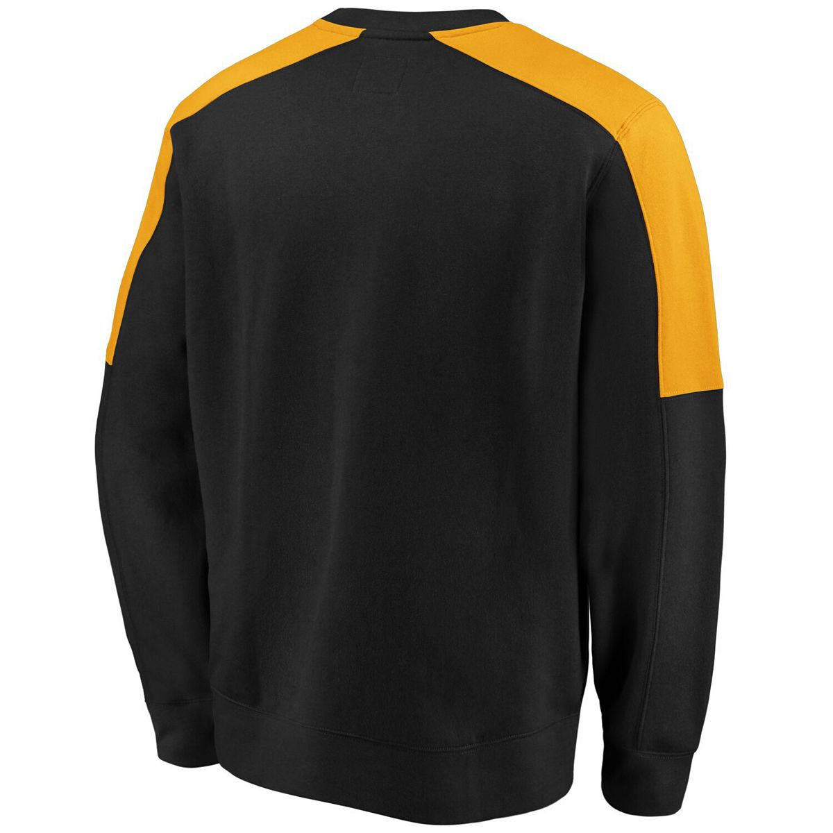 Men's Fanatics Branded Black/Gold Boston Bruins Iconic Crew Fleece Sweatshirt 3VQCx