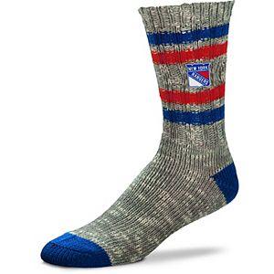 Women's For Bare Feet New York Rangers Alpine Tweed Crew Socks