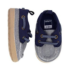 Baby Boy Carter's Navy Boat Crib Shoes