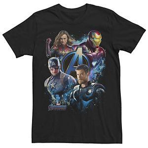 Men's Marvel Avengers: Endgame Blue Hue Collage Tee