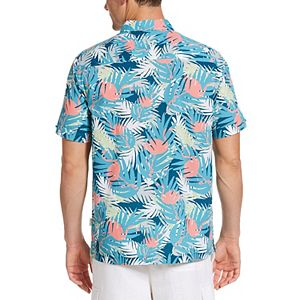 Men's Cubavera Deco Flamingo Leaf Print Shirt