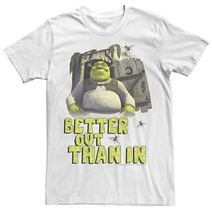 Men's Shrek Outhouse Better Out Than In Quote Graphic Tee