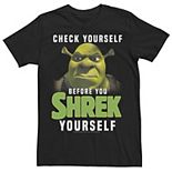Men's Shrek Check Yourself Before You Shrek Yourself Tee