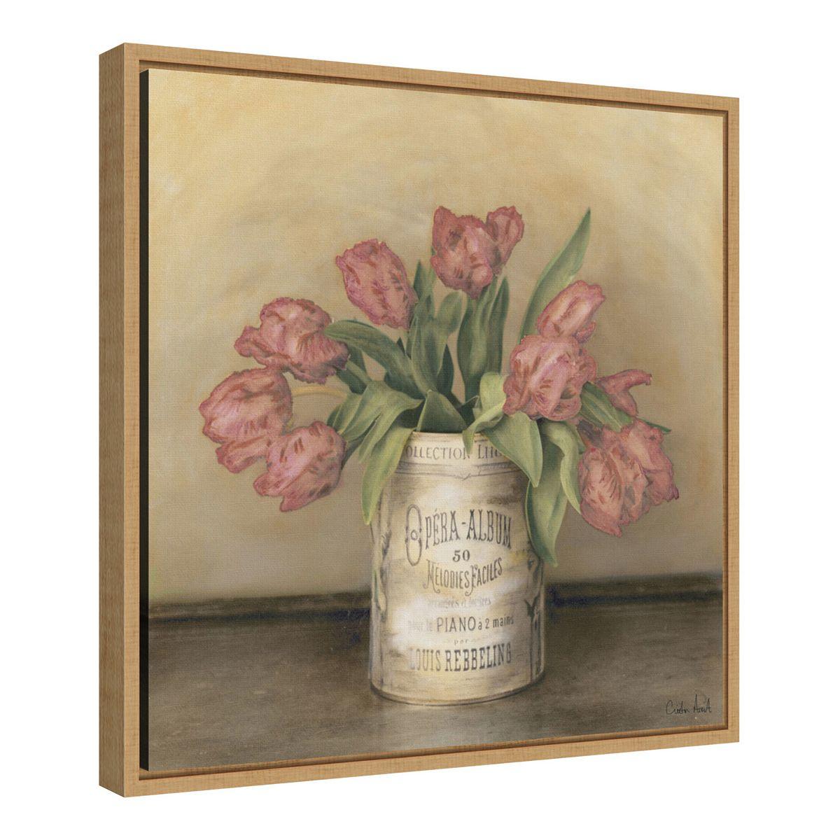 Amanti Art Royal Tulips Framed Canvas Print oOYIN
