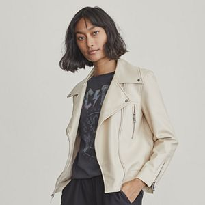 Petite Elizabeth and James Faux-Leather Moto Jacket
