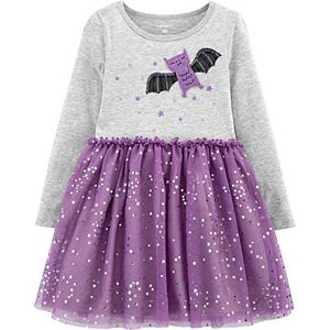 Toddler Girl Carter's Halloween Bat Jersey Dress