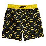 Toddler Boy DC Comics Batman Logo Swim Trunks