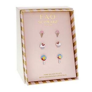 FAO Schwarz Ice Cream, Cupcake, Lollipop Stud Earring Set