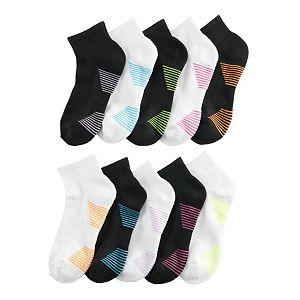 Women's Tek Gear® 10-pack Basic Ankle Socks