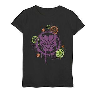 Girls 7-16 Marvel Black Panther Paint Splatter Halloween Tee