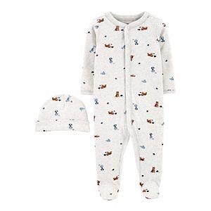 Baby Boy Carter's 2-Piece Cap & Snap-Up Cotton Sleep & Play Set