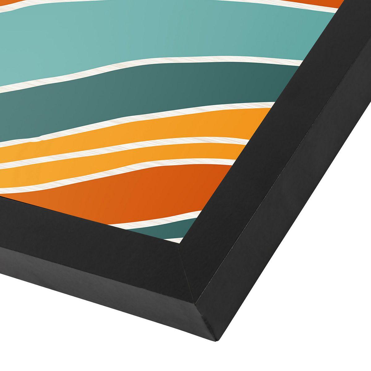 Americanflat Sunset Landscape Wall Art Black z19hW