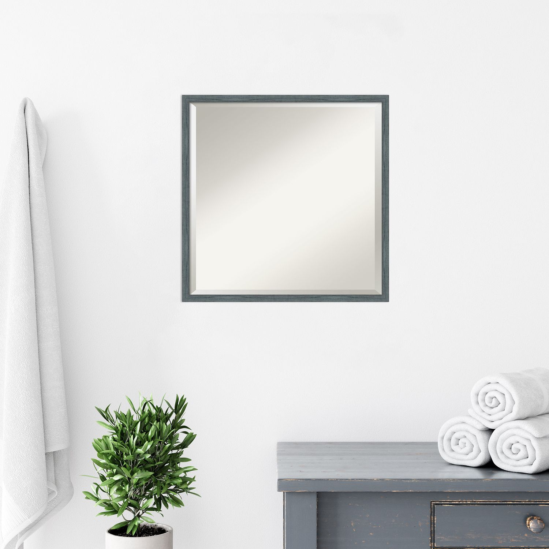 Amanti Art Dixie Blue Grey Narrow Bathroom Vanity Wall Mirror Vjfmi