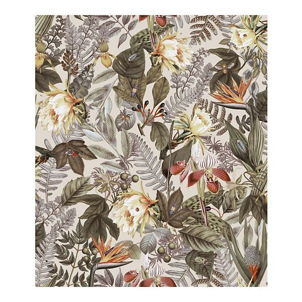 Roommates Tropical Flowers Peel Stick Wallpaper