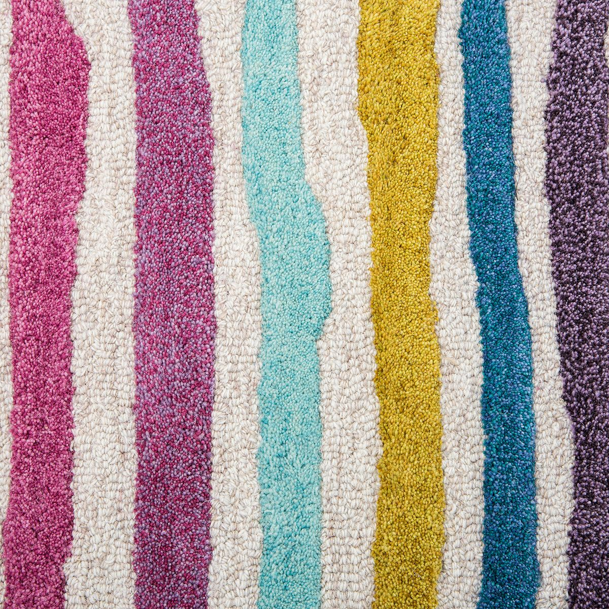 Rizzy Home Playday Multi Color Stripe Wool Area Rug HBrV2
