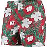 Men's Red Wisconsin Badgers Swimming Trunks
