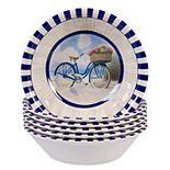 Certified International Beach Time 6-pc. Melamine All-Purpose Bowl Set