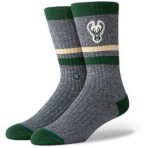 Women's Stance Milwaukee Bucks Boot Logo Crew Socks