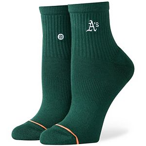 Women's Stance Oakland Athletics Lowrider Logo Quarter-Length Socks